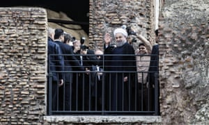 Hassan Rouhani at the Colosseum