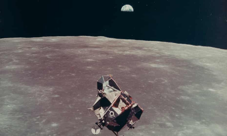 LM Eagle and Earthrise July 16-24, 1969 Michael Collins