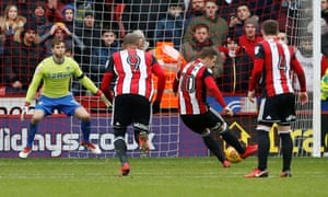 Billy Sharp coolly converts a second-half penalty to deliver three points for Sheffield United