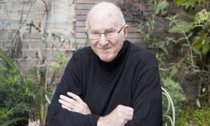 Australian author, critic, broadcaster and poet Clive James, sat next to the maple tree that inspired his poem Japanese Maple in his garden at home in Cambridge, September 2015.