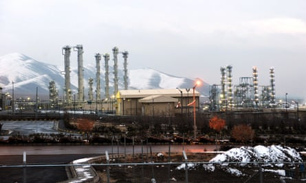 The Arak heavy water nuclear reactor, south-west of the Iranian capital, Tehran.