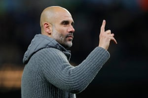 Guardiola signals one game to go.