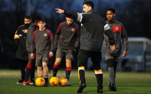 Pádraig Amond coaches Newport County's under-15s and under-16s