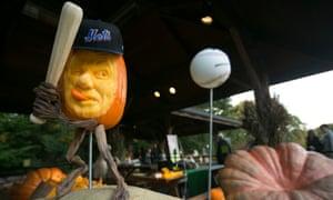 Giant pumpkins at the Brooklyn Botanical Garden