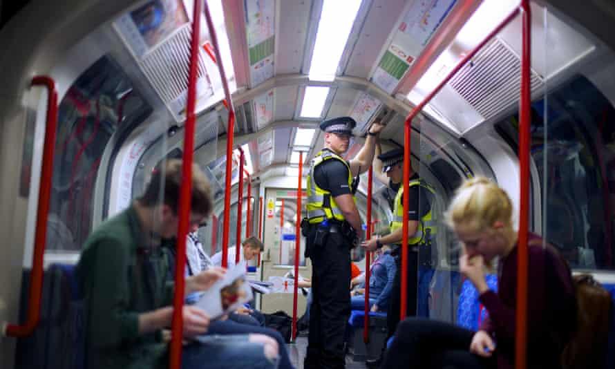 British Transport Police officer on Tube