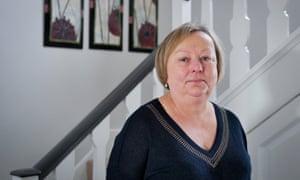 Retired headteacher Jane Cowley at her home near Belford, Northumberland