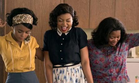 Janelle Monáe, Taraji P. Henson and Octavia Spencer as: Mary Jackson, Katherine Johnson and Dorothy Vaughan in the film Hidden Figures.