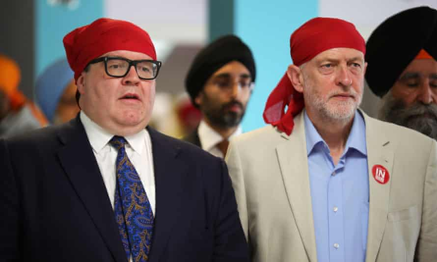 Watson and Corbyn visit a Sikh temple.