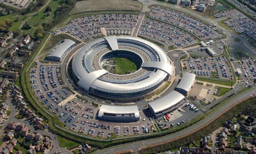 The GCHQ building in Cheltenham, England.