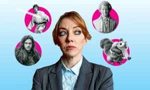 Clockwise from bottom left: Games of Throne; Star Wars; Mozart; Ice Age; Philomena Cunk.