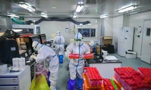 Coronavirus nucleic acid testing in Tianjin.