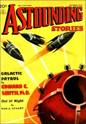 Astounding Stories magazine cover, featuring Galactic Patrol by EE Smith, 1937