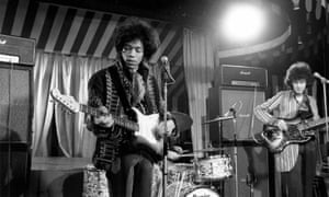 Experience unlimited … The Jimi Hendrix Experience performing at the Marquee in London in 1967.