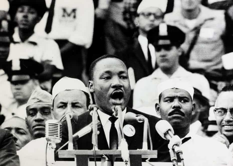'I have a dream that my four little children will one day live in a nation where they will not be judged by the color of their skin, but by the content of their character.'