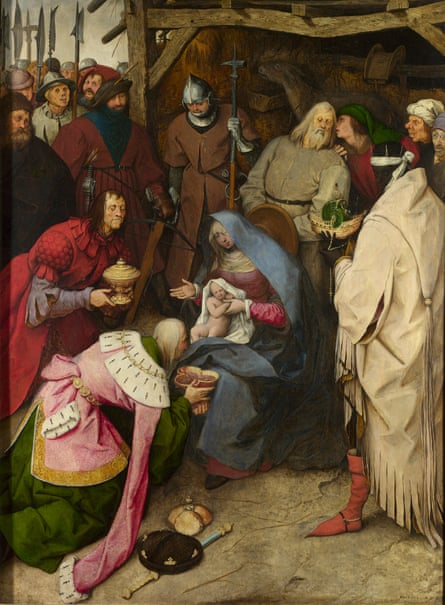The Adoration of the Kings, Signed and dated 1564. Bruegel, Pieter the Elder. The National Gallery