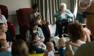 Kids and nanas at Albany Care Home