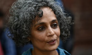 Writer and activist Arundhati Roy during a march in Delhi, India, in 2016.