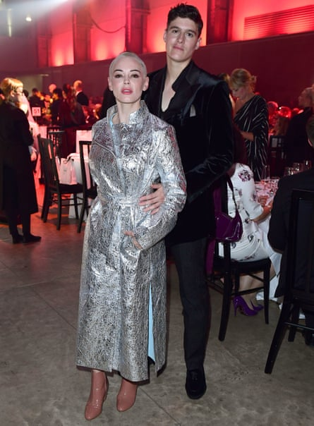 With Rose McGowan at the GQ awards.