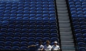 Spectators watch the third round match between Serena Williams and Anastasia Potapova at the Australian Open