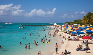 The Doctor's Cave beach in Montego Bay, Jamaica.