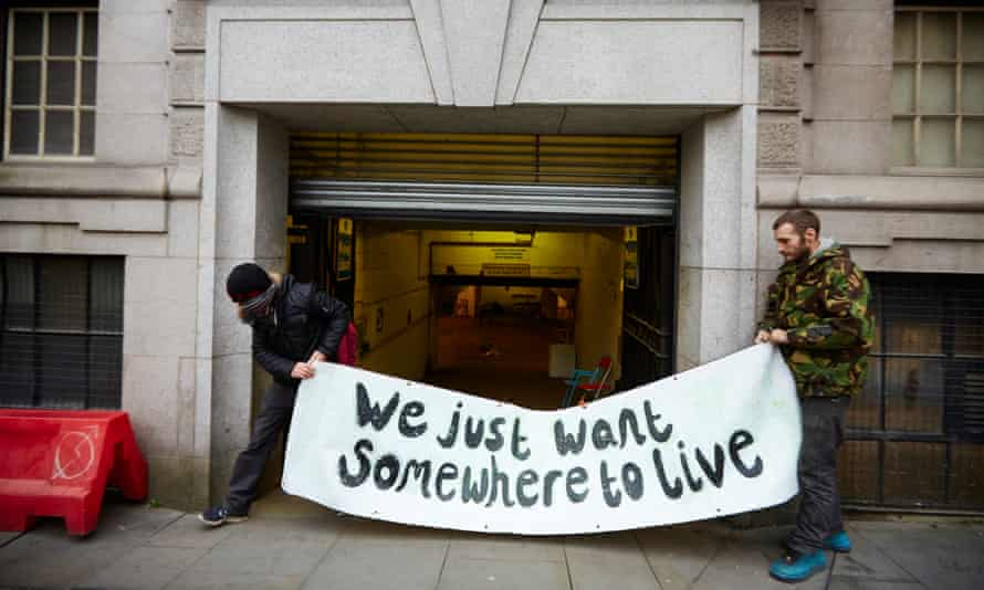 The stock exchange building in Manchester, where owner Gary Neville gave squatters permission to stay over winter.