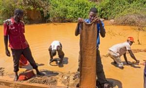 All that glitters: Ugandan gold miners lead a hard life.