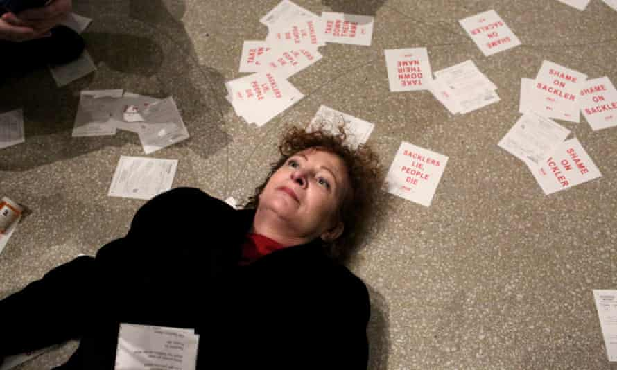 The 'die-in' Nan Goldin staged at the Guggenheim in February