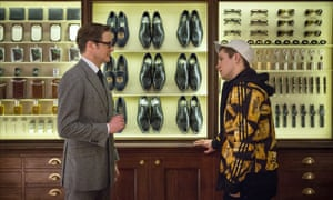 Colin Firth as Harry Hart and Taron Egerton as Eggsy in the 2015 film version of Kingsman: Secret Service.