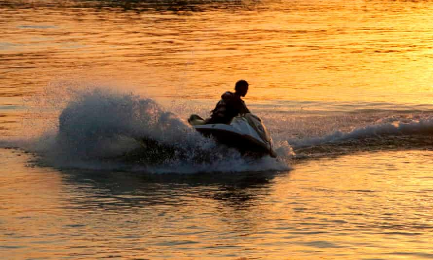 A Scottish man has been jailed for breaching Covid rules after riding a jet ski from Scotland to the Isle of man to see his new girlfriend.