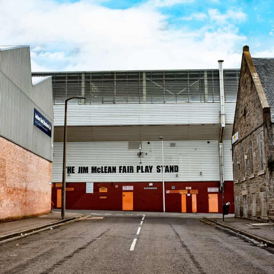 Dundee United's ground, Tannadice Park.