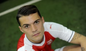 Granit Xhaka has signed a five-year deal with Arsenal.