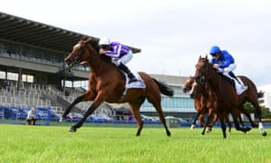 Magical with Seamus Heffernan up win the 2020 Irish Champion Stakes (Group 1) from Ghaiyyath and William Buick in front of empty stands at Leopardstown on 12 September.