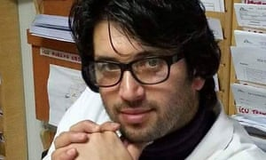 Doctor Ehsan Osmani, 25, worked in the intensive care unit.