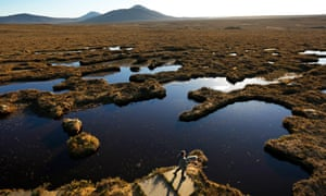Peatland in Caithness and Sutherland. Fully restoring the UK's lost peatlands could cost £8bn-£22bn over the next century, but the ONS predicted savings of £109bn in reduced carbon emissions.