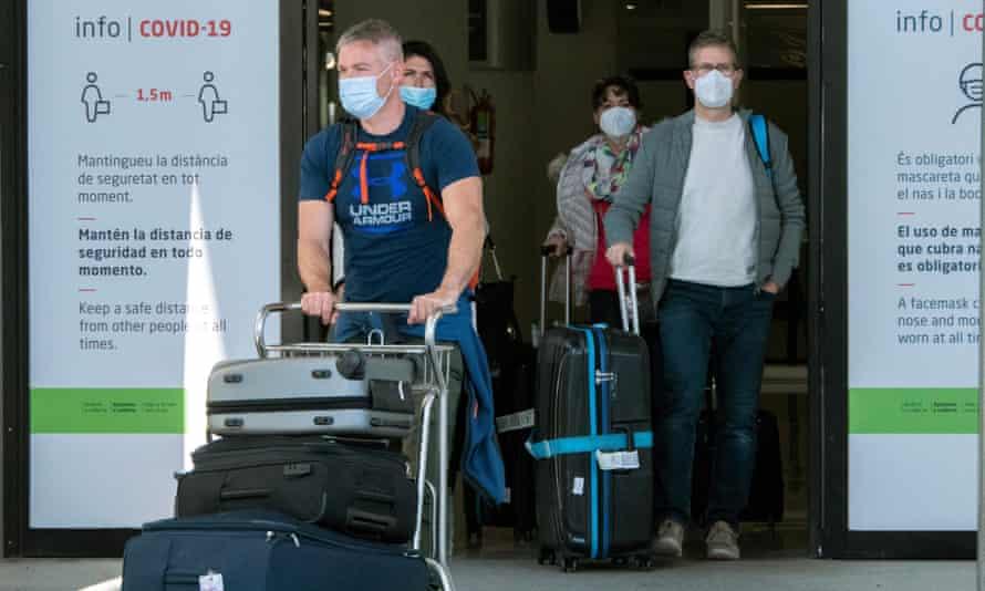 Passengers arrive at Palma de Mallorca