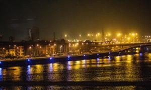 Lagos at night.