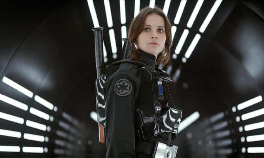 'The same blend of pain and chin-forward resolve that characterised Sigourney Weaver's Ripley': Felicity Jones as Jyn in Rogue One.