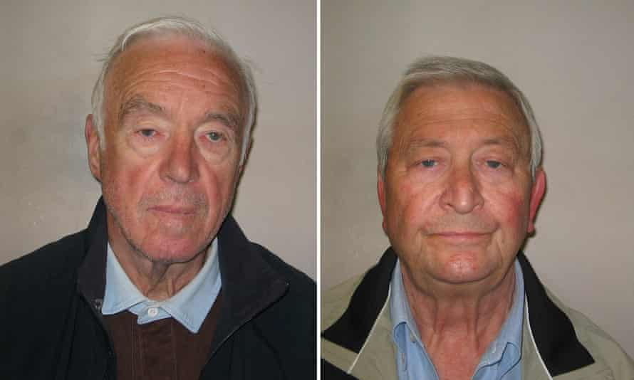 Brian Reader (left) is out of jail, but in poor health; Terry Perkins (right) died in his cell at Belmarsh.