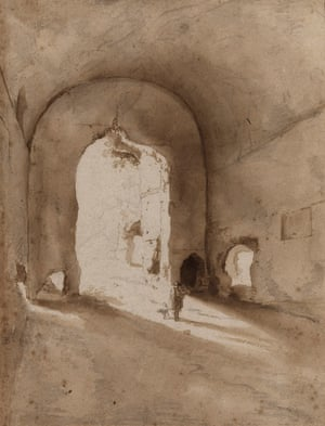 "Roman Ruins (""Coliseo""), 1627, by Bartholomaeus Breenbergh"