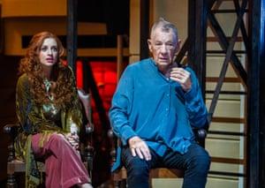Alis Wyn Davies, left, plays Ophelia.
