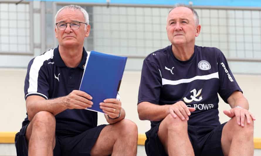 Claudio Ranieri and his assistant Steve Walsh