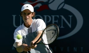 Andy Murray on his way to winning the boys' title at the US Open in 2004.