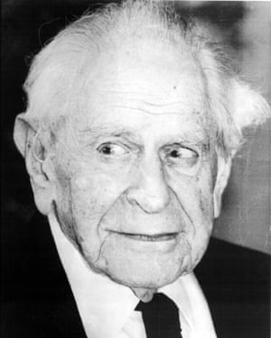 Karl Popper, whose writings were a key influence on Soros's thinking about the 'open society'.