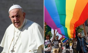 The pope says God made gay people just as we should be ...