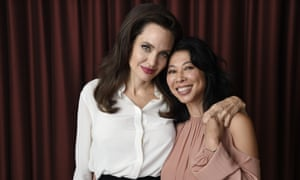 Angelina Jolie, with Loung Ung, Cambodian activist and co-writer of her latest film, First They Killed My Father: A Daughter of Cambodia Remembers.
