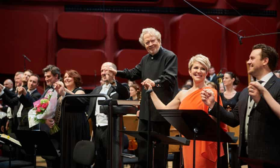 A new high watermark … John Nelson, Joyce DiDonato and the cast of Les Troyens.