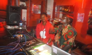 Rey Sapiens (on right) working in the Nyege Nyege studio