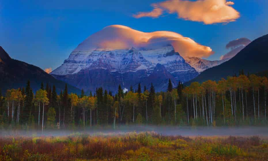 At first light … Mount Robson provincial park, Canada.