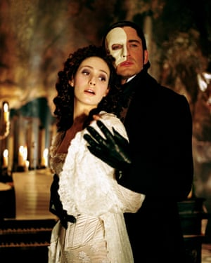 Emmy Rossum as Christine and Gerard Butler as The Phantom in The Phantom of the Opera, 2004