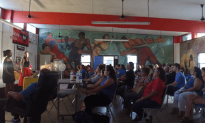A training class for women in the Rio Grande Valley.